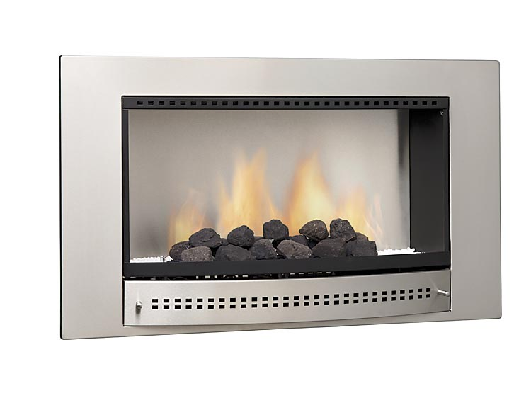 Chad O Chef Classic Fireplace Stainless Steel Frame Plain Back